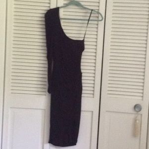 Black 1 shoulder dress Bebe sz xs  $30